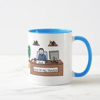 Jack of All Trades - personalized cartoon mug