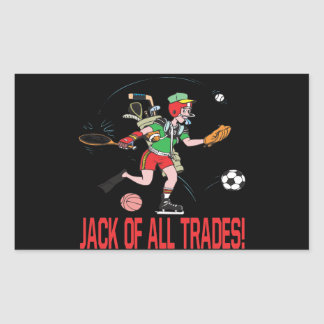 Jack Of All Trades Rectangular Sticker