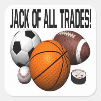 Jack Of All Trades Square Sticker