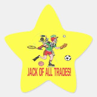 Jack Of All Trades Star Sticker