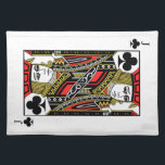 "Jack of Clubs Cloth Placemat<br><div class=""desc"">More products: www.zazzle.com/wowsmiley2</div>"
