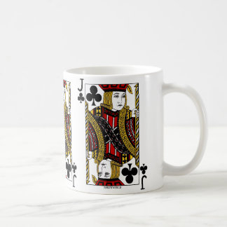Jack Of Clubs Playing Card Coffee Mug