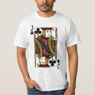 Jack Of Clubs Playing Card T-Shirt