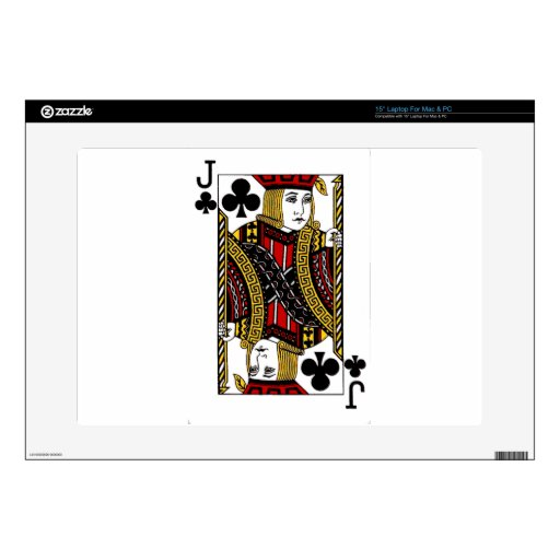 """jack of clubs.png 15"""" laptop decals"""