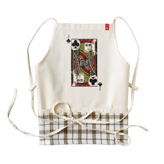 Jack of Clubs Zazzle HEART Apron