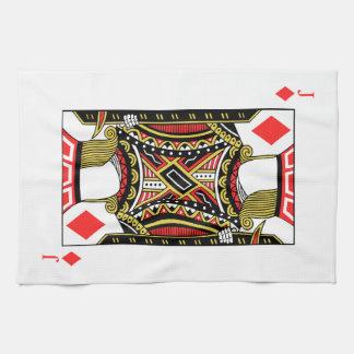 Jack of Diamonds - Add Your Image Kitchen Towel