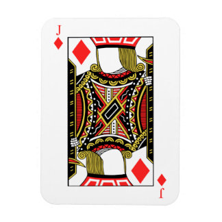 Jack of Diamonds - Add Your Image Magnet