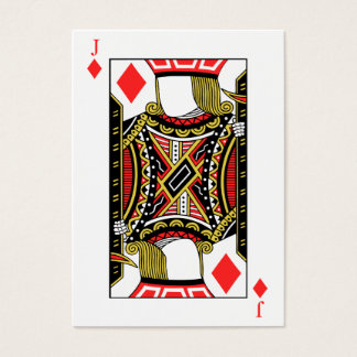 Jack of Diamonds - Add Your Images Business Card