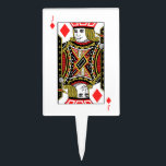 """Jack of Diamonds Cake Topper<br><div class=""""desc"""">Search &quot;wowsmiley&quot; for more products like this one.</div>"""