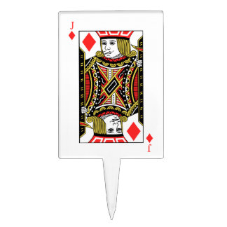 Jack of Diamonds Cake Topper