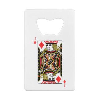 Jack of Diamonds Credit Card Bottle Opener
