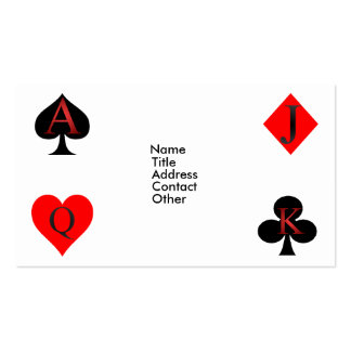 Jack Of Diamonds Playing Cards Business Card Template