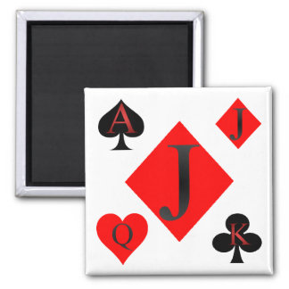 Jack Of Diamonds Playing Cards Refrigerator Magnets