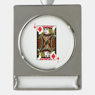 Jack of Diamonds Silver Plated Banner Ornament