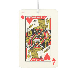 Jack of Hearts Car Air Freshener