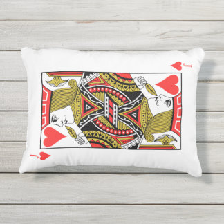 Jack of Hearts Outdoor Pillow