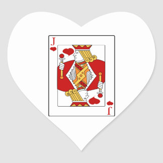Jack of Hearts Playing Card Heart Sticker