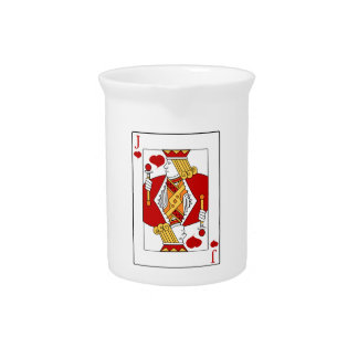 Jack of Hearts Playing Card Pitcher