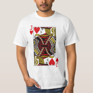 Jack Of Hearts Playing Card Tee Shirt