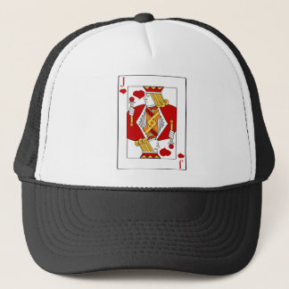 Jack of Hearts Playing Card Trucker Hat