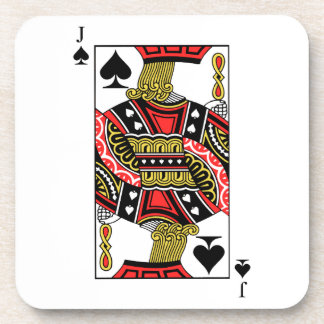 Jack of Spades - Add Your Image Coaster