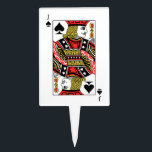 """Jack of Spades Cake Topper<br><div class=""""desc"""">Search &quot;wowsmiley&quot; for more products like this one.</div>"""