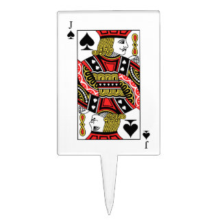 Jack of Spades Cake Topper