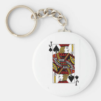 jack of spades.png basic round button keychain