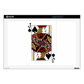 "jack of spades.png 17"" laptop decals"