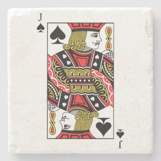 Jack of Spades Stone Coaster