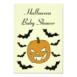 Jack O'lantern Baby Shower Invitation Cards