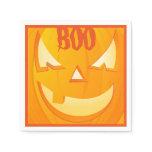 Jack O'Lantern Boo Halloween Party Napkin