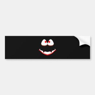 Jack O'Lantern Eyes Bumper Sticker