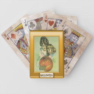Jack O'lantern Halloween Bicycle Playing Cards
