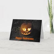 Jack O'lantern Halloween Card card
