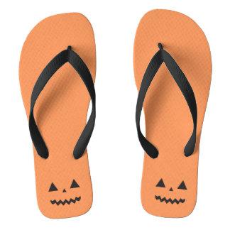 Jack O'Lantern Halloween Flip Flops