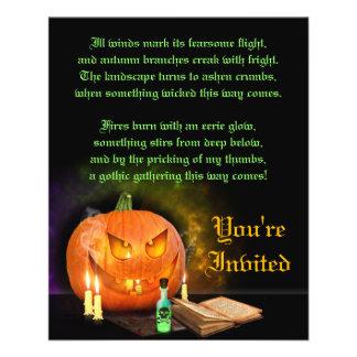 Jack O'Lantern Halloween Party Invitation Flyer