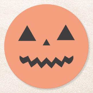 Jack O'Lantern Paper Coasters