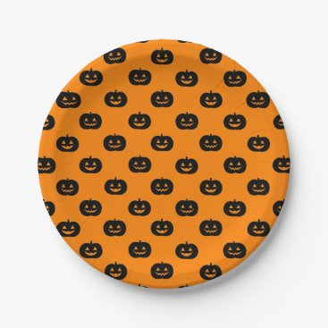 Wedding Themed Jack O'Lantern Paper Plate