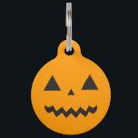"Jack O&#39;Lantern Pet Tag<br><div class=""desc"">Jack O&#39;Lantern,  sticker,  orange,  pumpkin,  cute,  kids,  halloween,  kawaii</div>"
