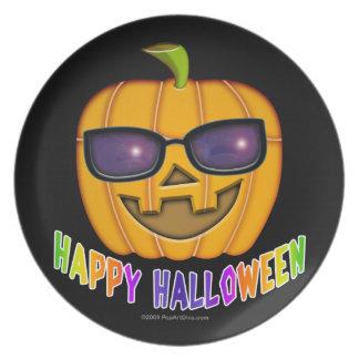 Jack O'Lantern Pumpkin Halloween  Plate