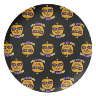 Jack O'Lantern Pumpkins Halloween  Plate
