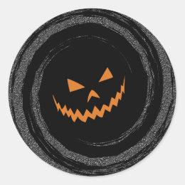 Jack OLantern Swirl Classic Round Sticker