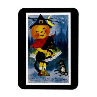 Jack o'Lantern Witch Magnet