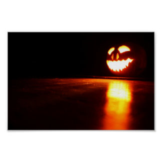 Jack O'Lantern with Reflections Poster