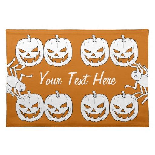 Jack o'lantern y araña Halloween Placemats Mantel
