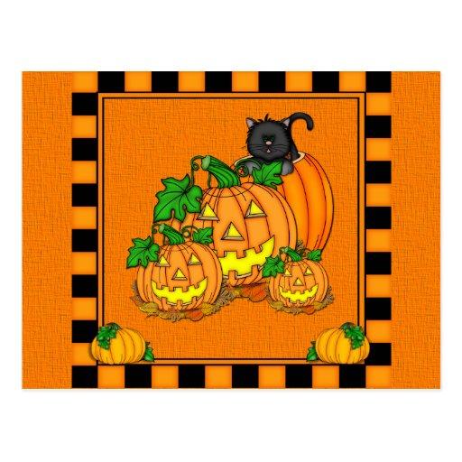 Jack O'Lanterns Halloween Tarjeta Postal