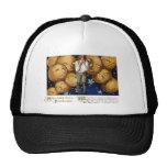 Jack O'Lanterns Peer at Boy Vintage Hallowe'en Trucker Hat