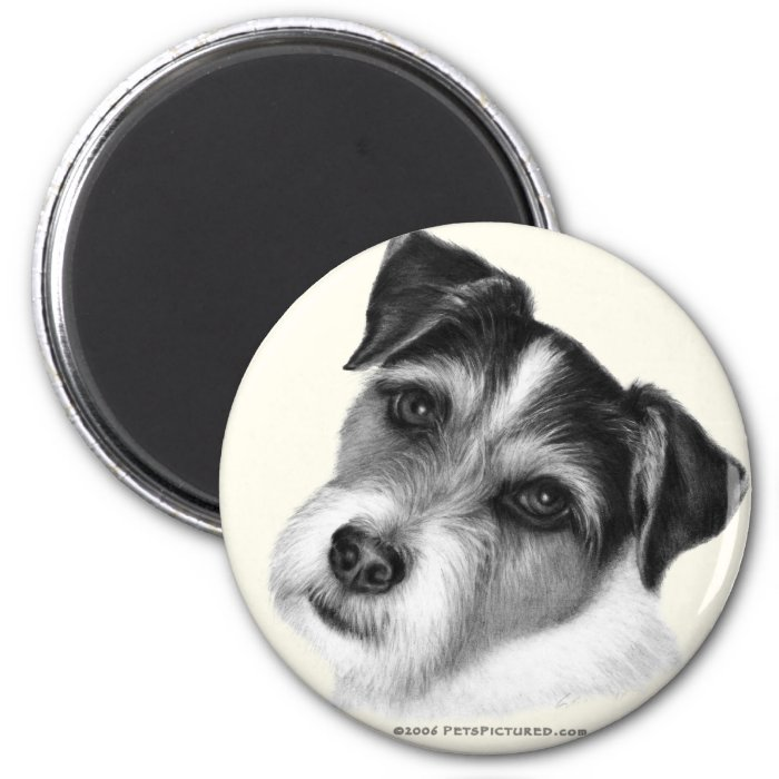 Jack (Parson) Russell Terrier 2 Inch Round Magnet