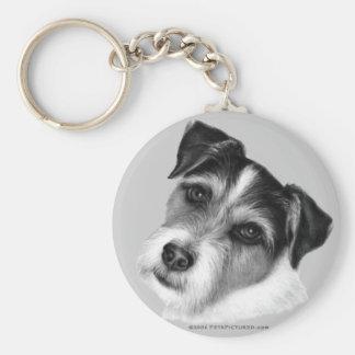 Jack (Parson) Russell Terrier Basic Round Button Keychain